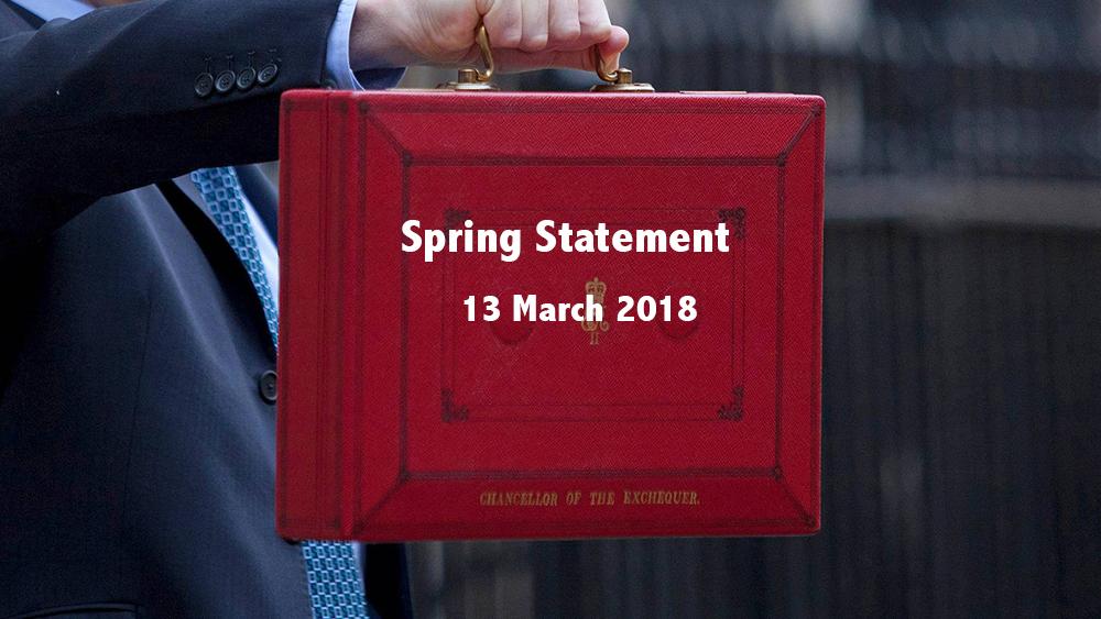 PRESS RELEASE: Spring Statement 2018