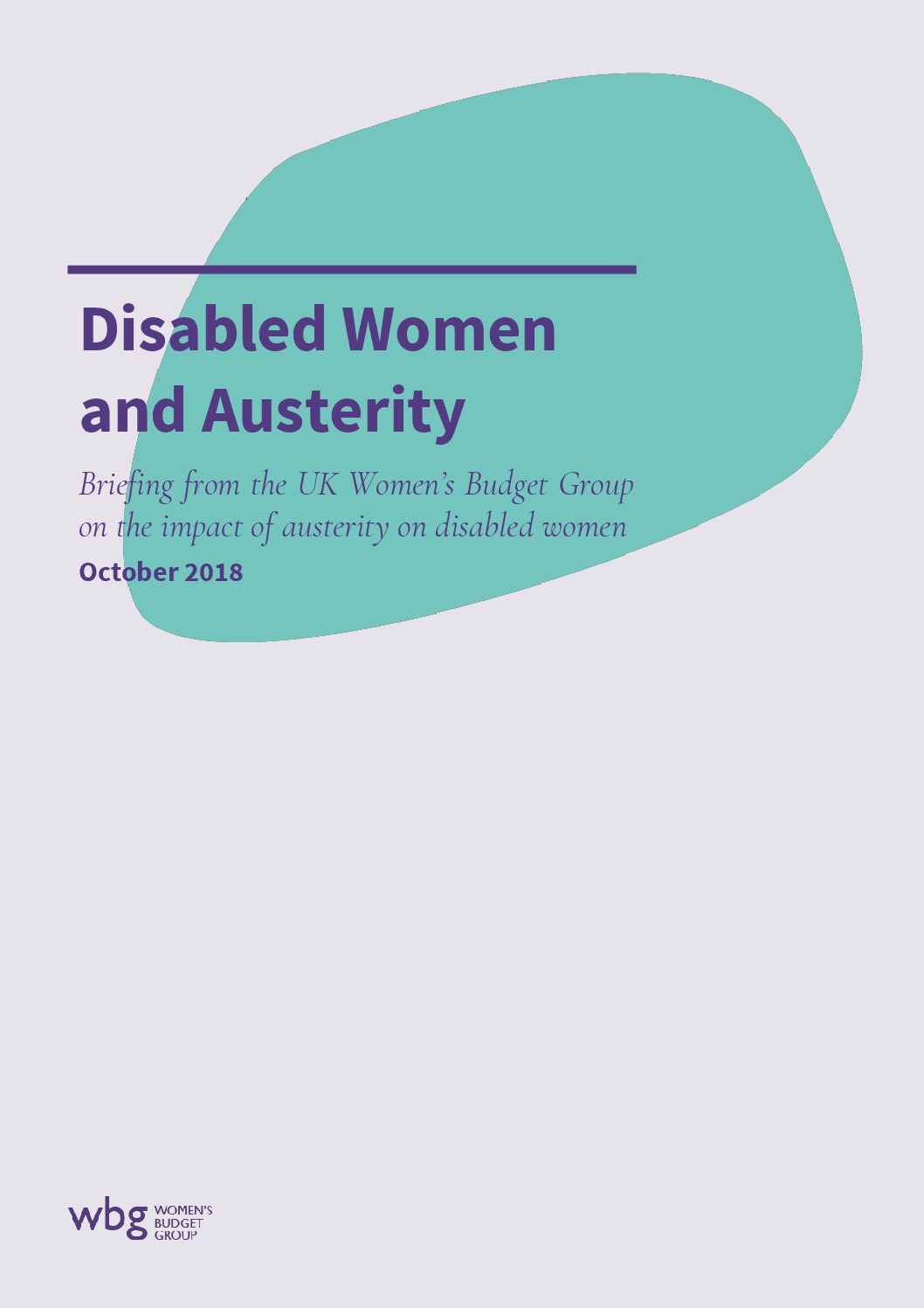 2018 WBG Briefing: Disabled Women and Austerity