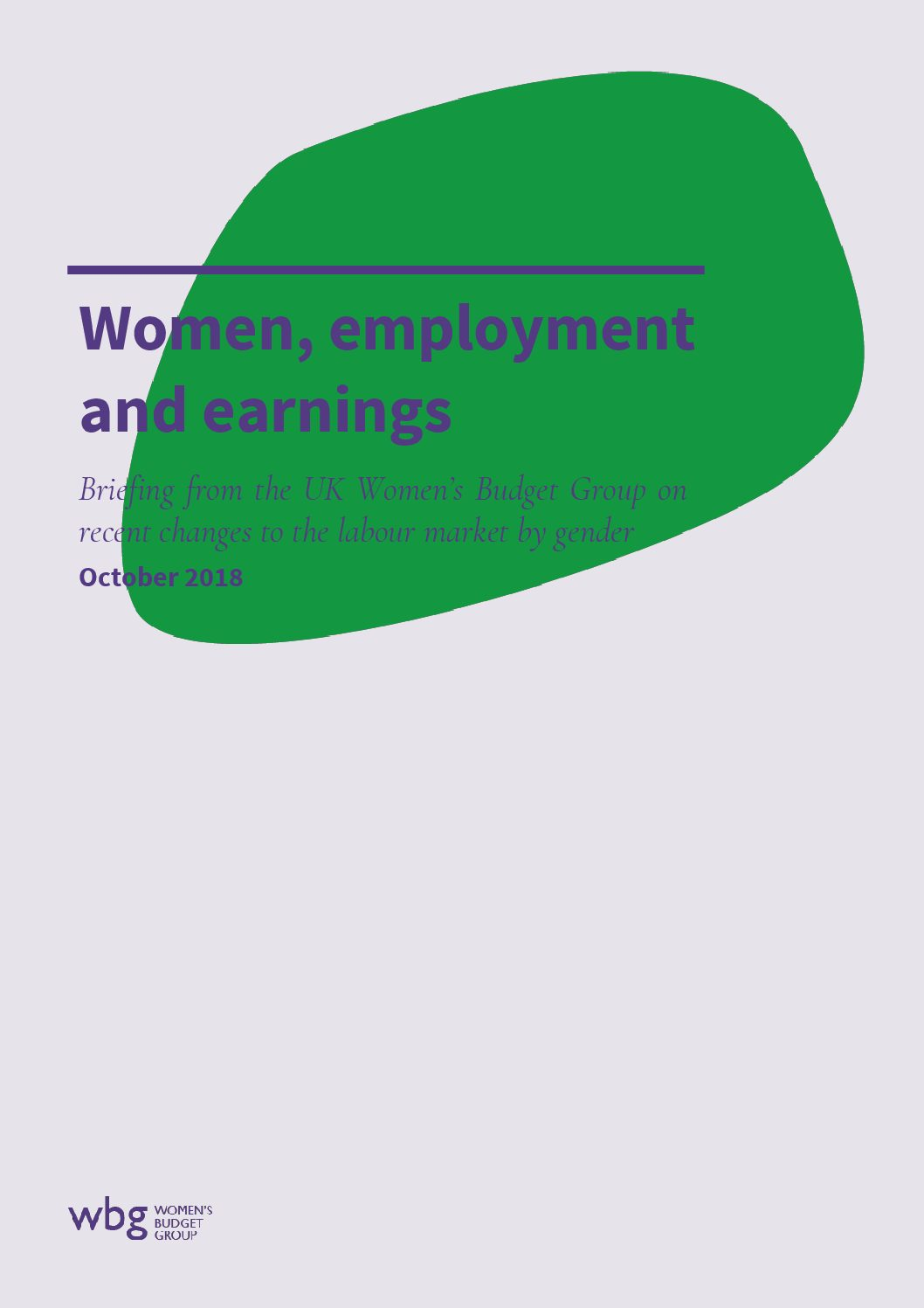 2018 WBG Briefing: Women, Employment and Earnings