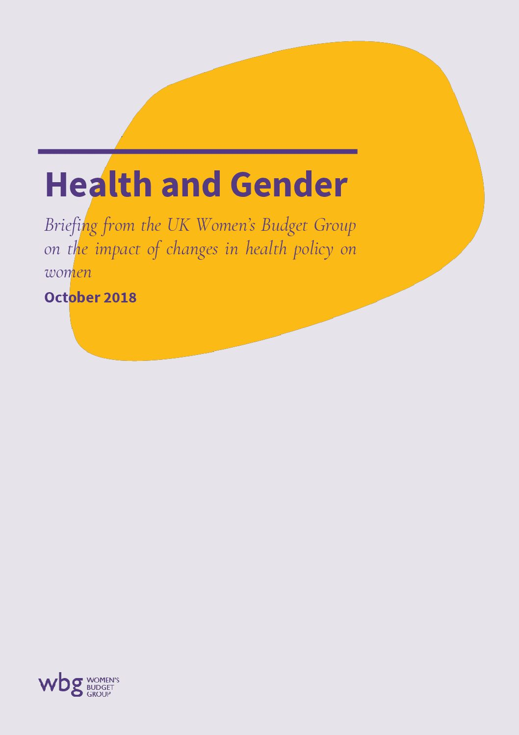 2018 WBG Briefing: Health and Gender