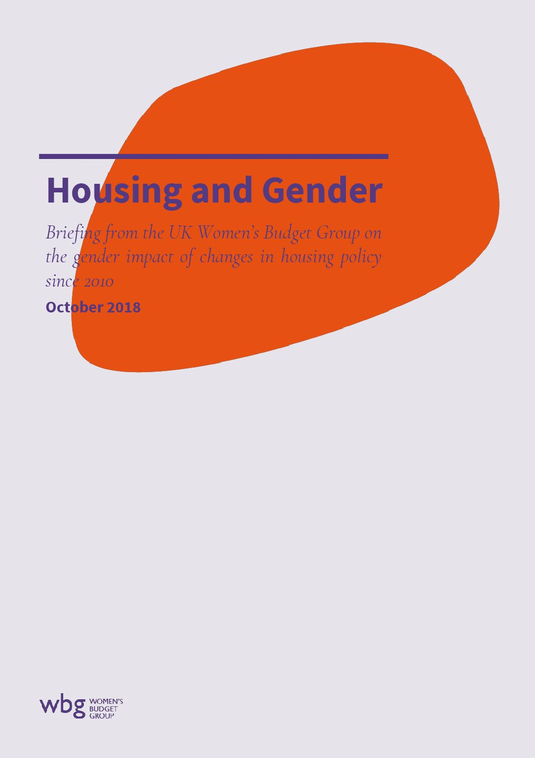 2018 WBG Briefing: Housing and Gender