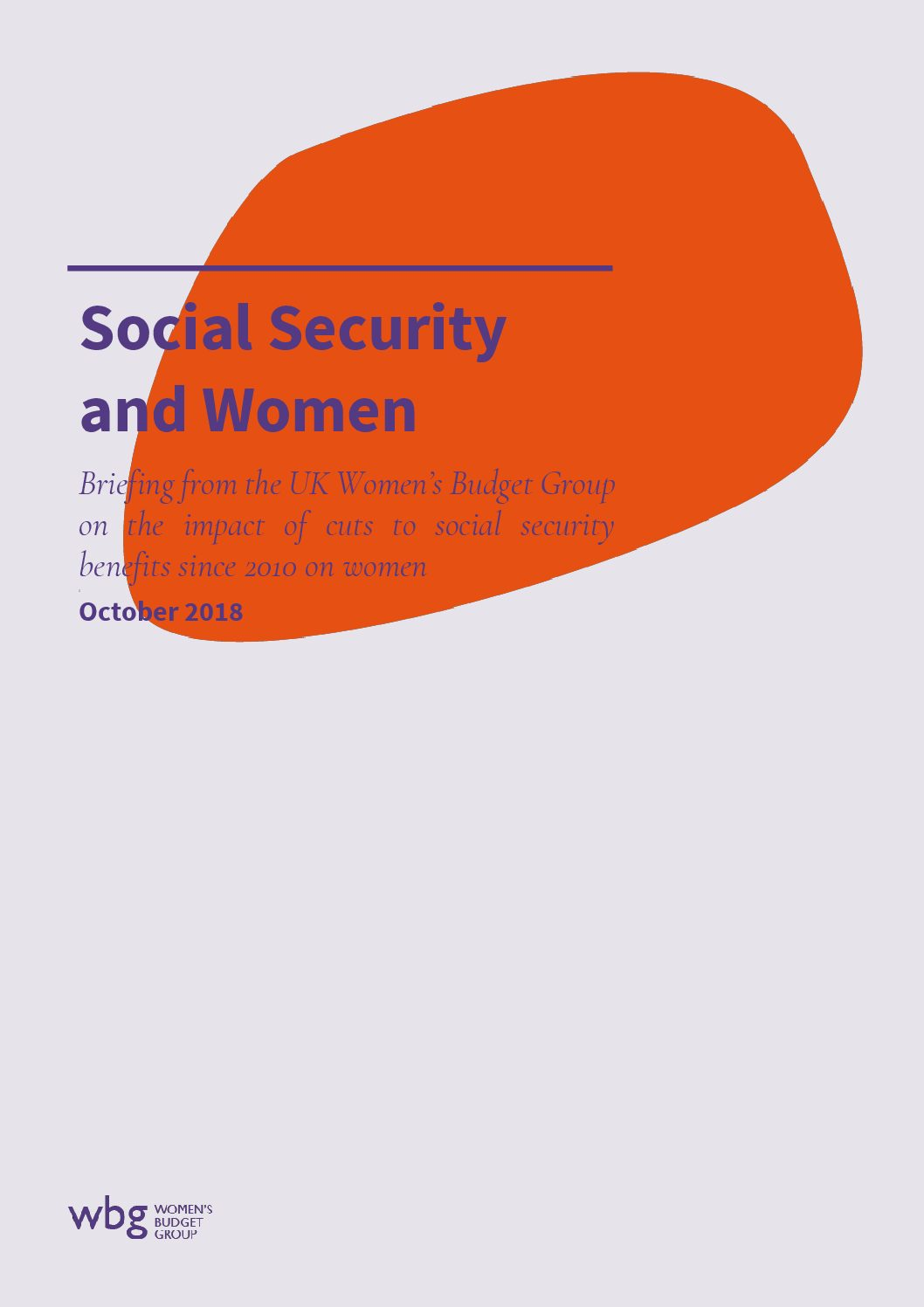 2018 WBG Briefing: Social Security and Women