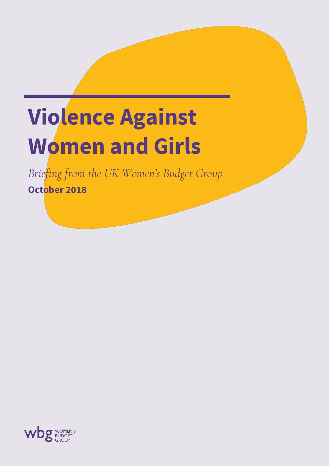 2018 WBG Briefing: Violence Against Women and Girls