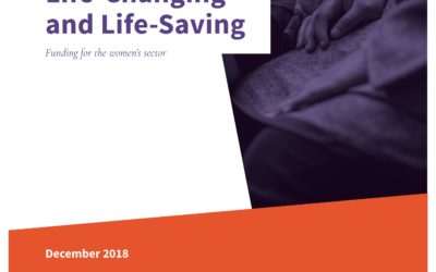 Life-Changing & Life-Saving: Funding for the women's sector