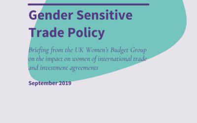 Gender sensitive trade policy