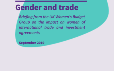 Gender impacts of trade and investment agreements