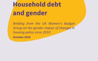 2019 WBG Briefing: Household debt and gender