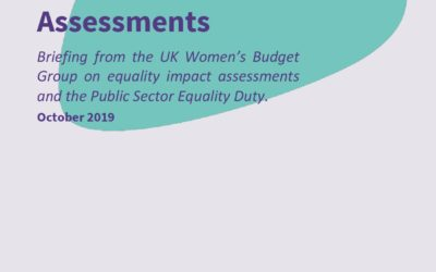 2019 WBG Briefing: Equality Impact Assessments