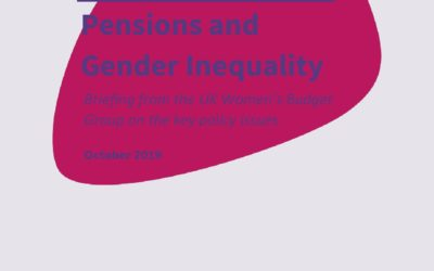 2019 WBG Briefing: Pensions and gender inequality