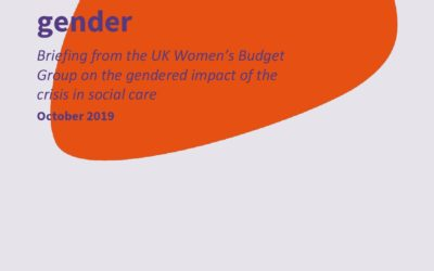 2019 WBG Briefing: Social care and gender