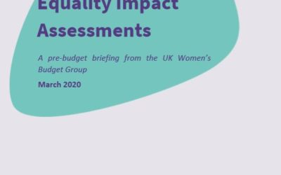 2020 WBG Briefing: Equality Impact Assessments