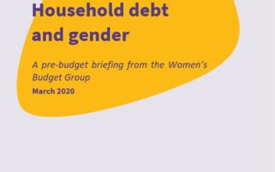 2020 WBG Briefing: Household debt and gender