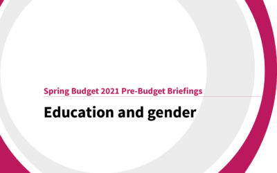 Spring Budget 2021: Education and gender