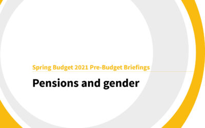 Spring Budget 2021: Pensions and Gender