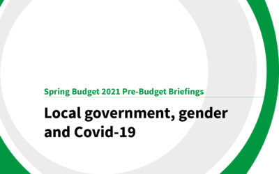 Spring Budget 2021: Local government, gender and Covid-19