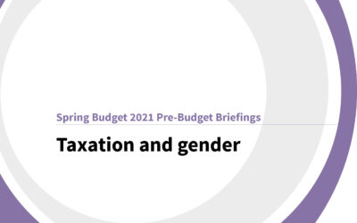 Spring Budget 2021: Taxation and gender