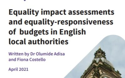 Equality impact assessments  and equality-responsiveness  of budgets in English  local authorities